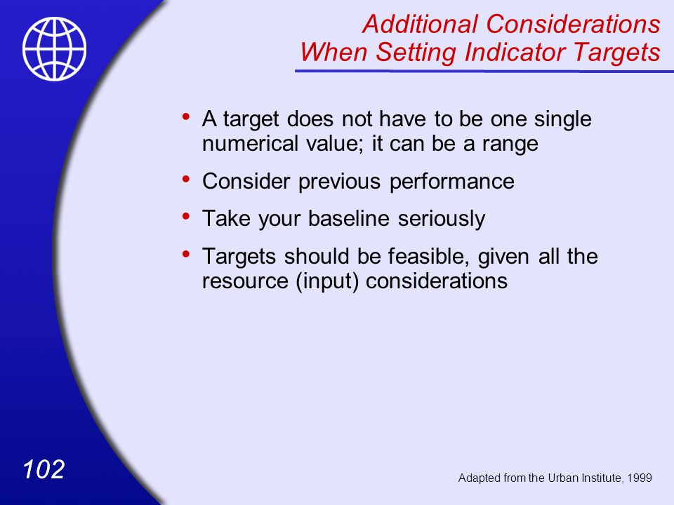Additional Considerations When Setting Indicator Targets