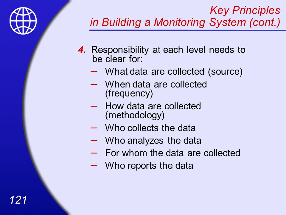 Key Principles in Building a Monitoring System (cont.)