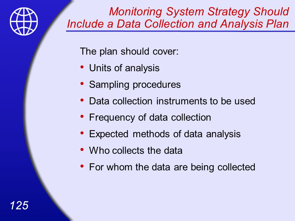 Monitoring System Strategy Should Include a Data Collection and Analysis Plan
