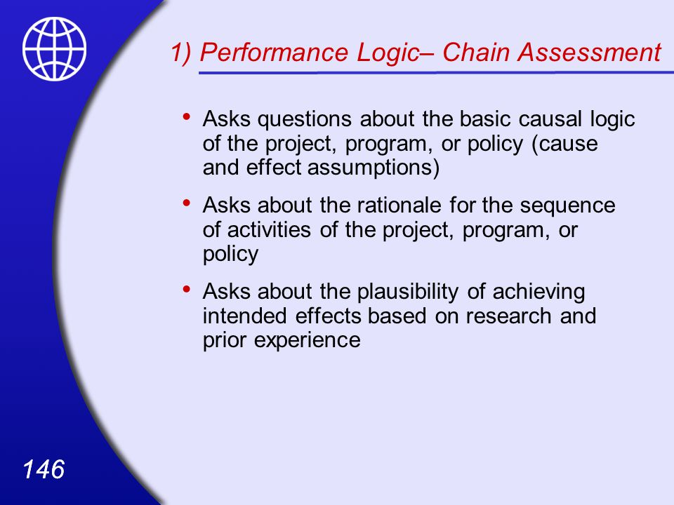 1) Performance Logic– Chain Assessment