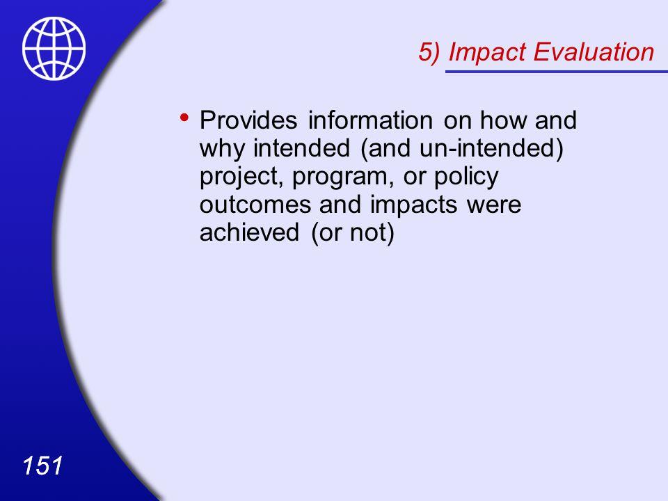 5) Impact Evaluation