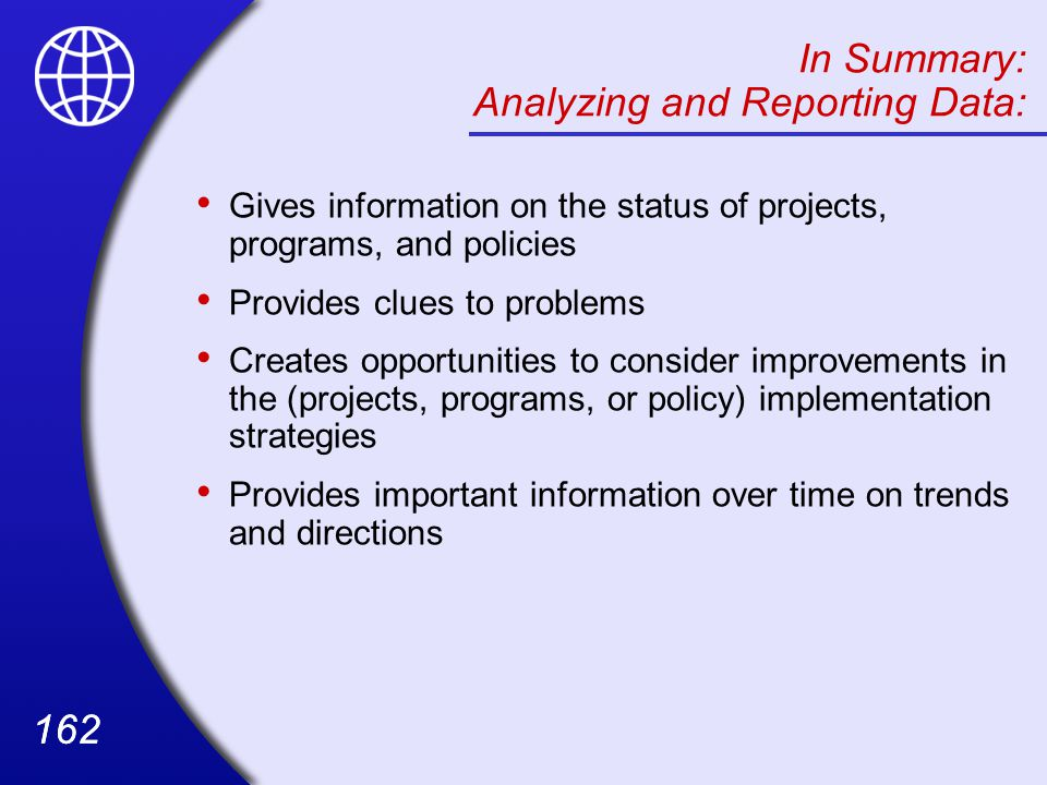 Analyzing and Reporting Data:
