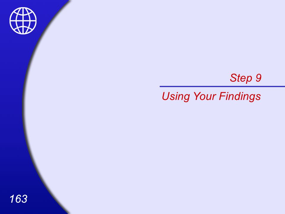 Step 9 Using Your Findings