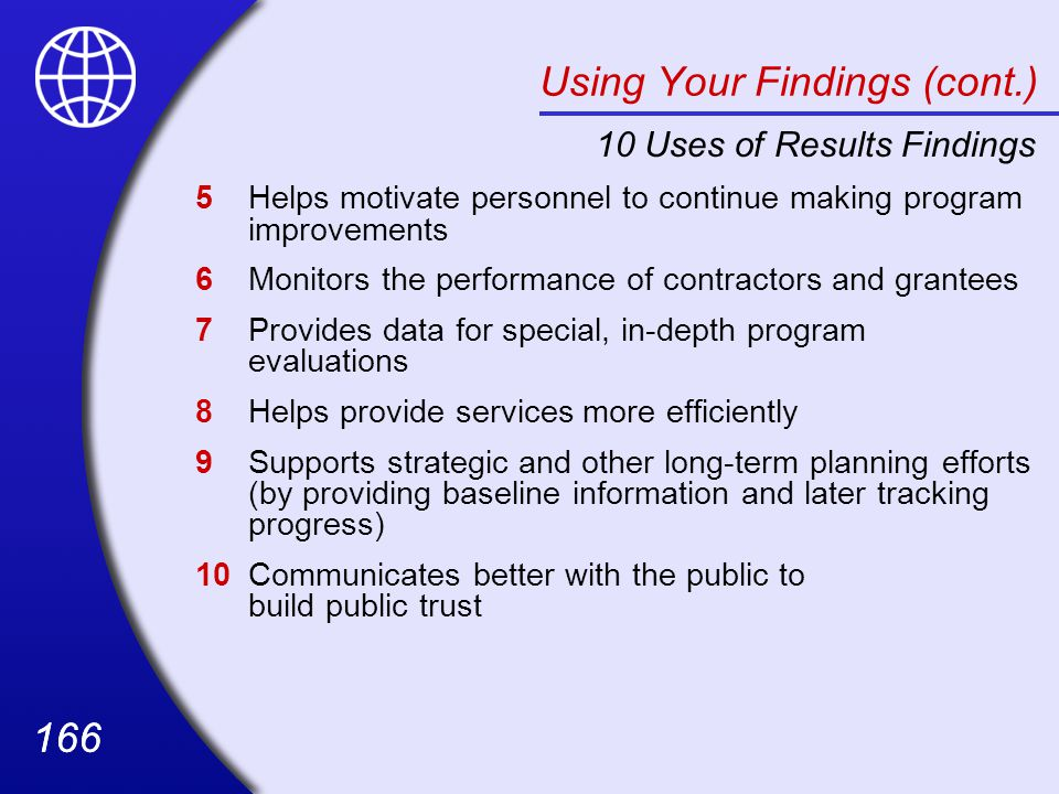 Using Your Findings (cont.)