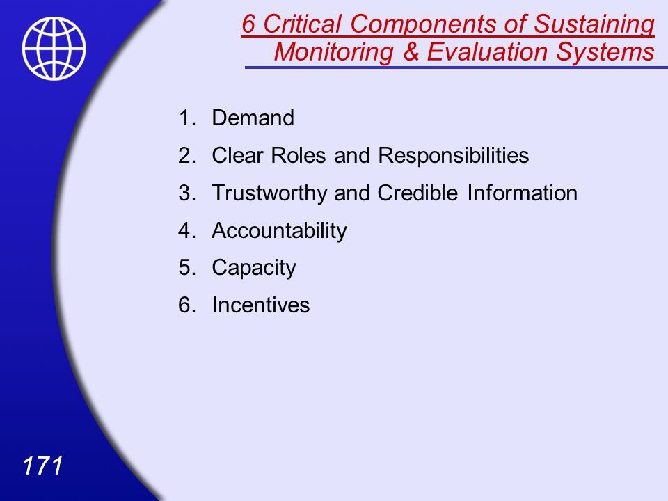 6 Critical Components of Sustaining Monitoring & Evaluation Systems