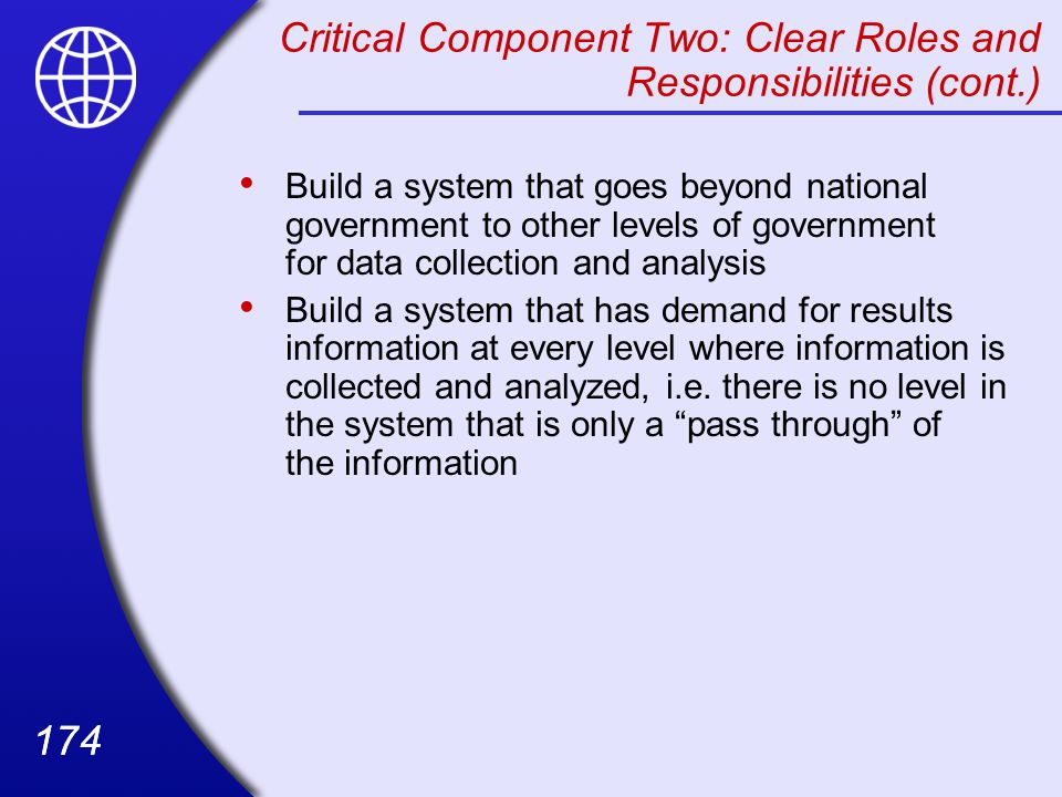 Critical Component Two: Clear Roles and Responsibilities (cont.)