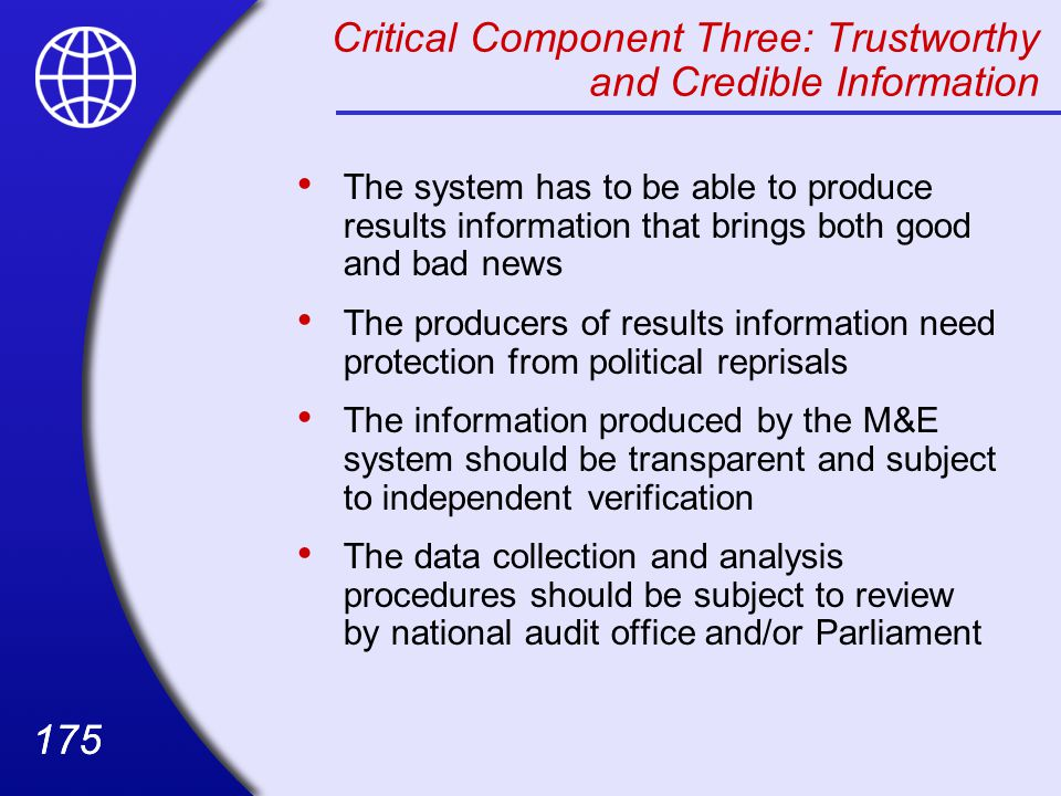 Critical Component Three: Trustworthy and Credible Information