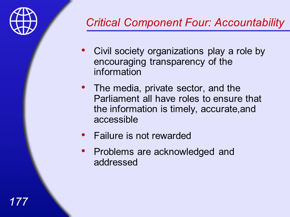 Critical Component Four: Accountability