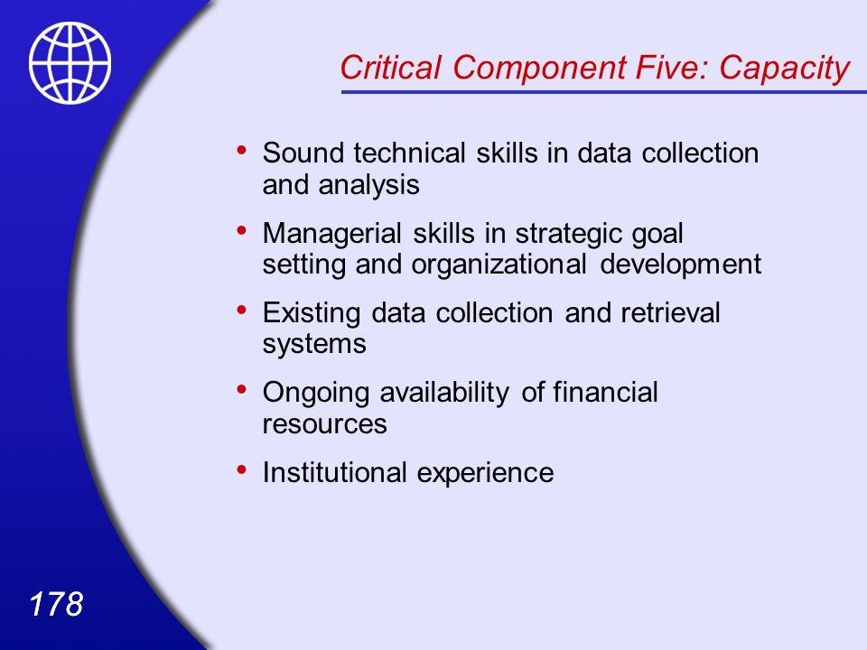 Critical Component Five: Capacity