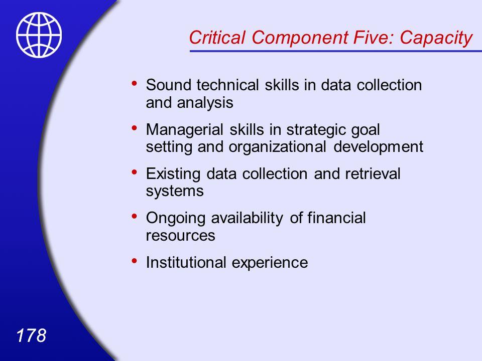 Critical Component Five: Capacity