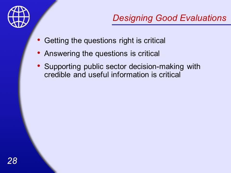 Designing Good Evaluations