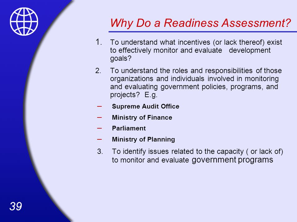 Why Do a Readiness Assessment