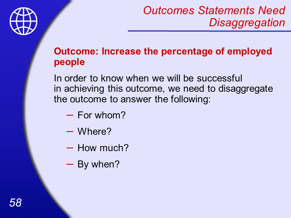 Outcomes Statements Need Disaggregation