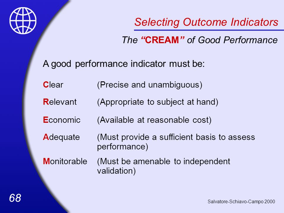 Selecting Outcome Indicators