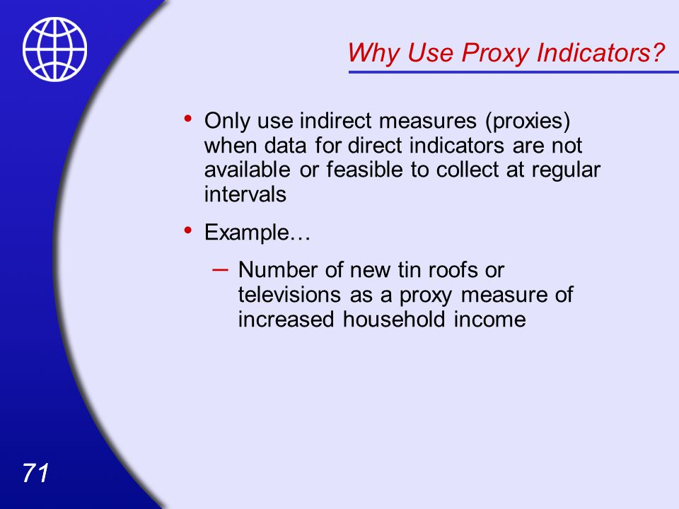 Why Use Proxy Indicators