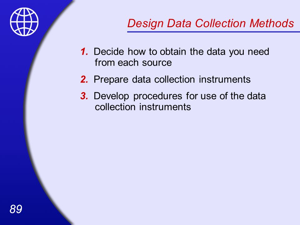 Design Data Collection Methods
