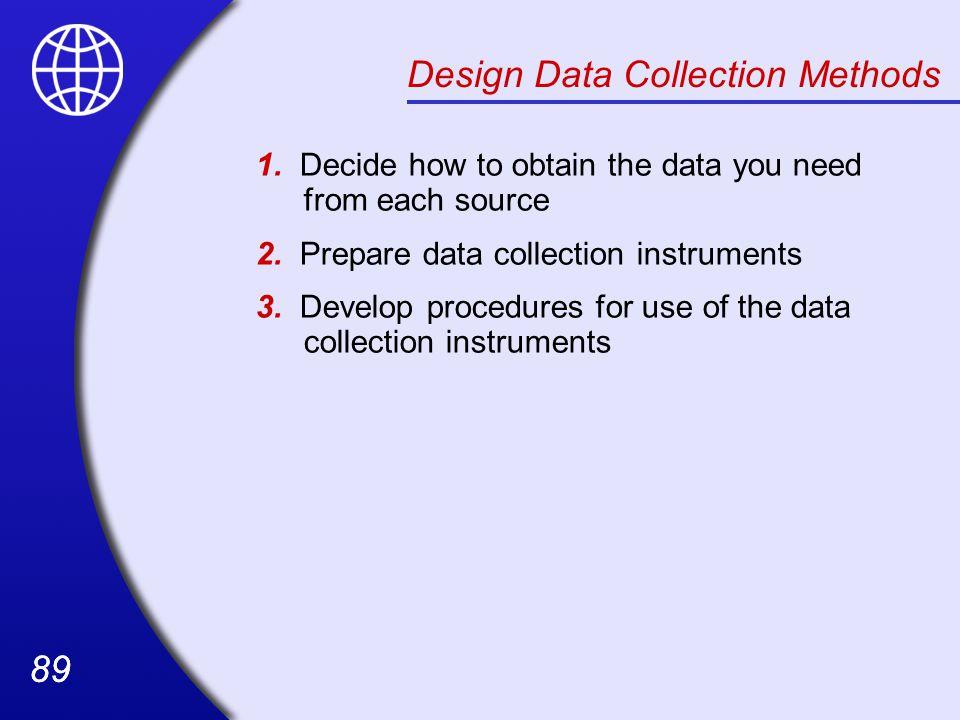 Design Data Collection Methods