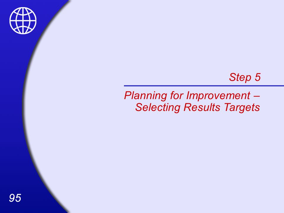 Step 5 Planning for Improvement – Selecting Results Targets