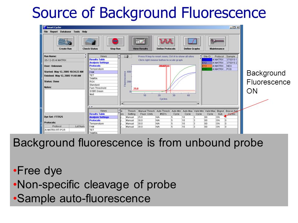 Source of Background Fluorescence