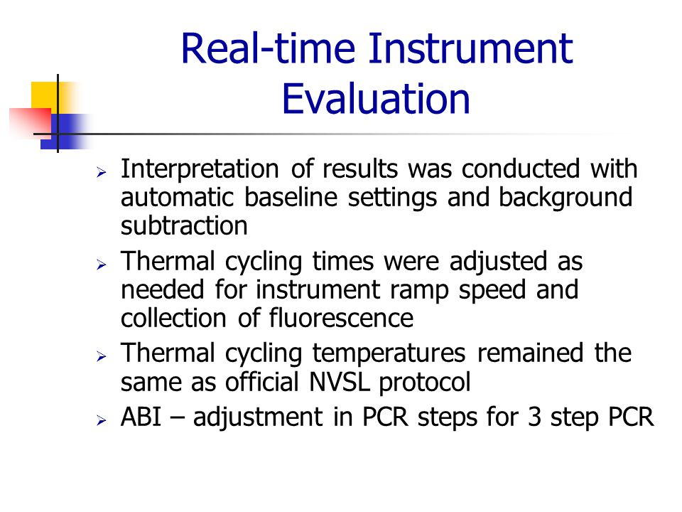 Real-time Instrument Evaluation