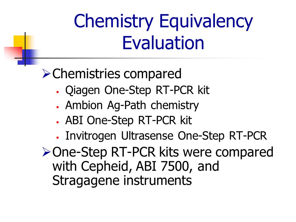 Chemistry Equivalency Evaluation