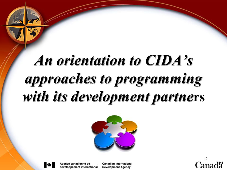 An orientation to CIDA's approaches to programming with its development partners