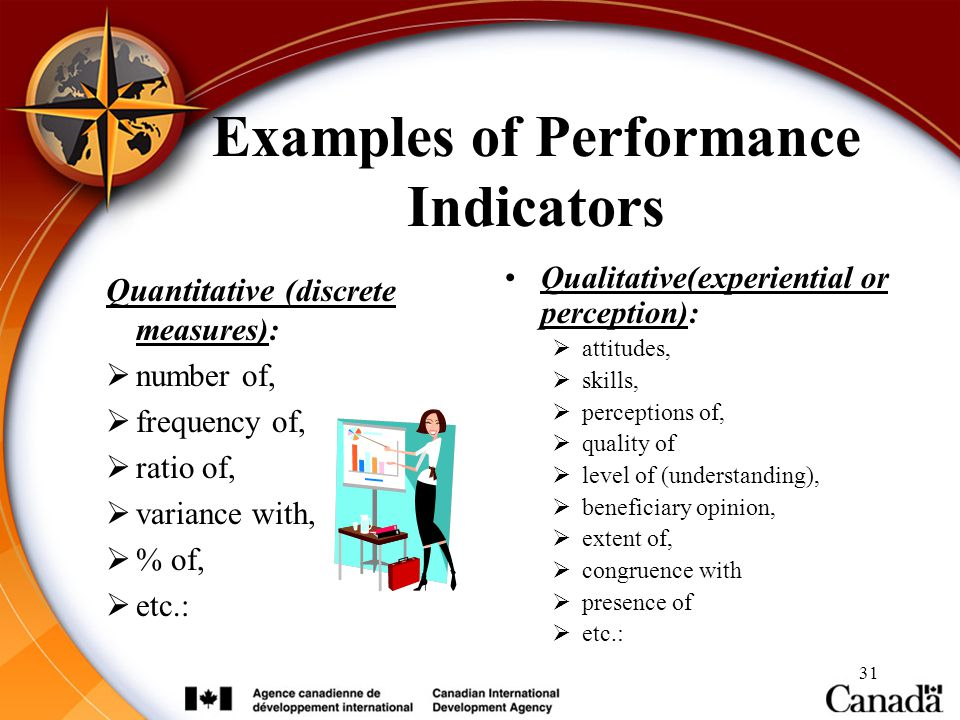 Examples of Performance Indicators