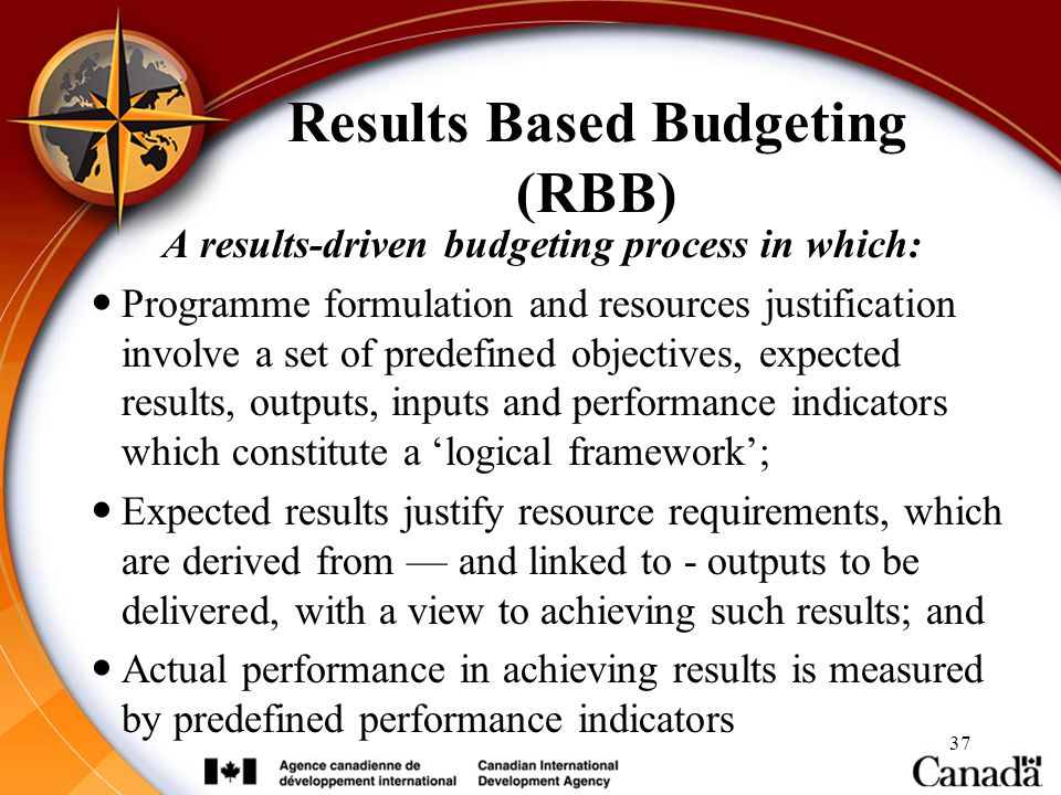 Results Based Budgeting (RBB)
