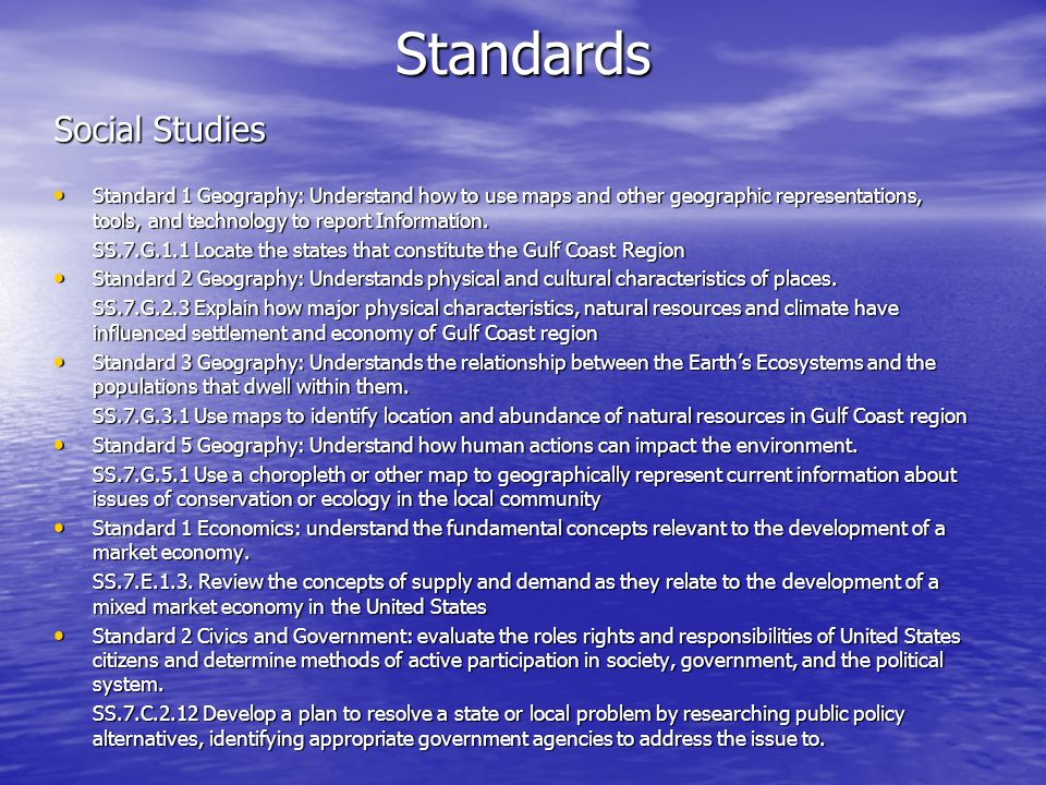 Standards Social Studies
