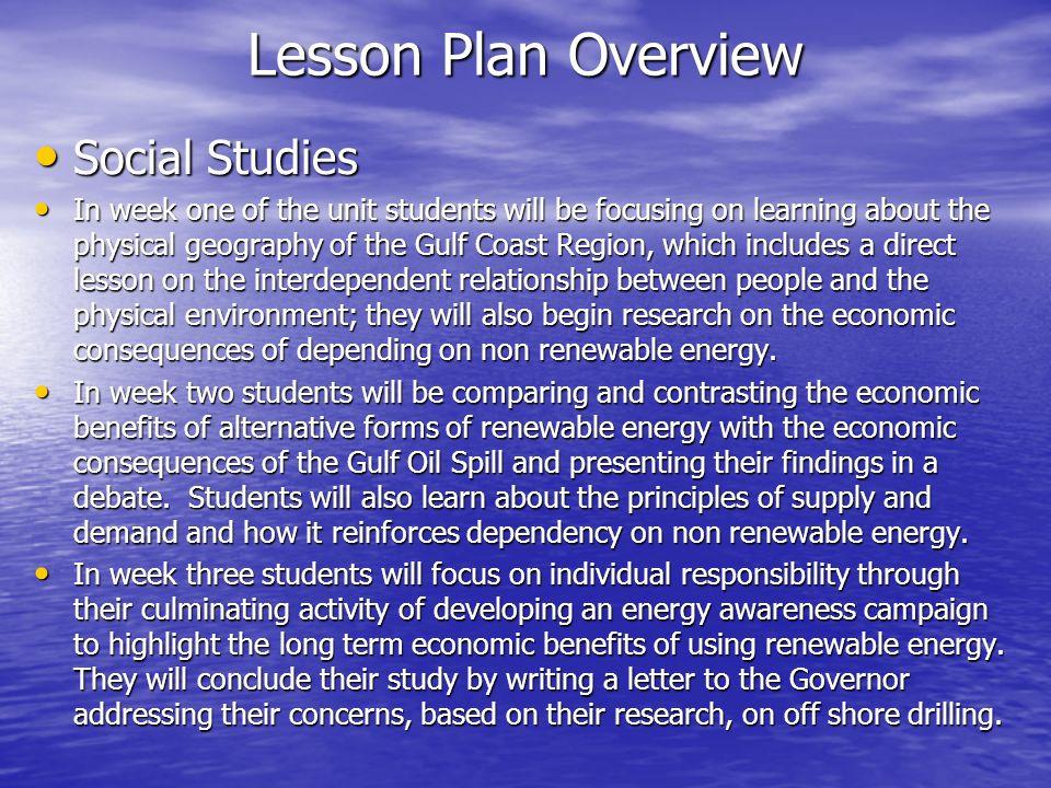 Lesson Plan Overview Social Studies