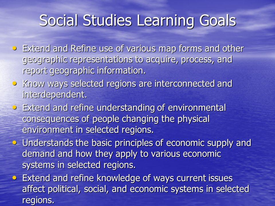 Social Studies Learning Goals