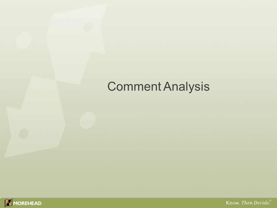 Comment Analysis