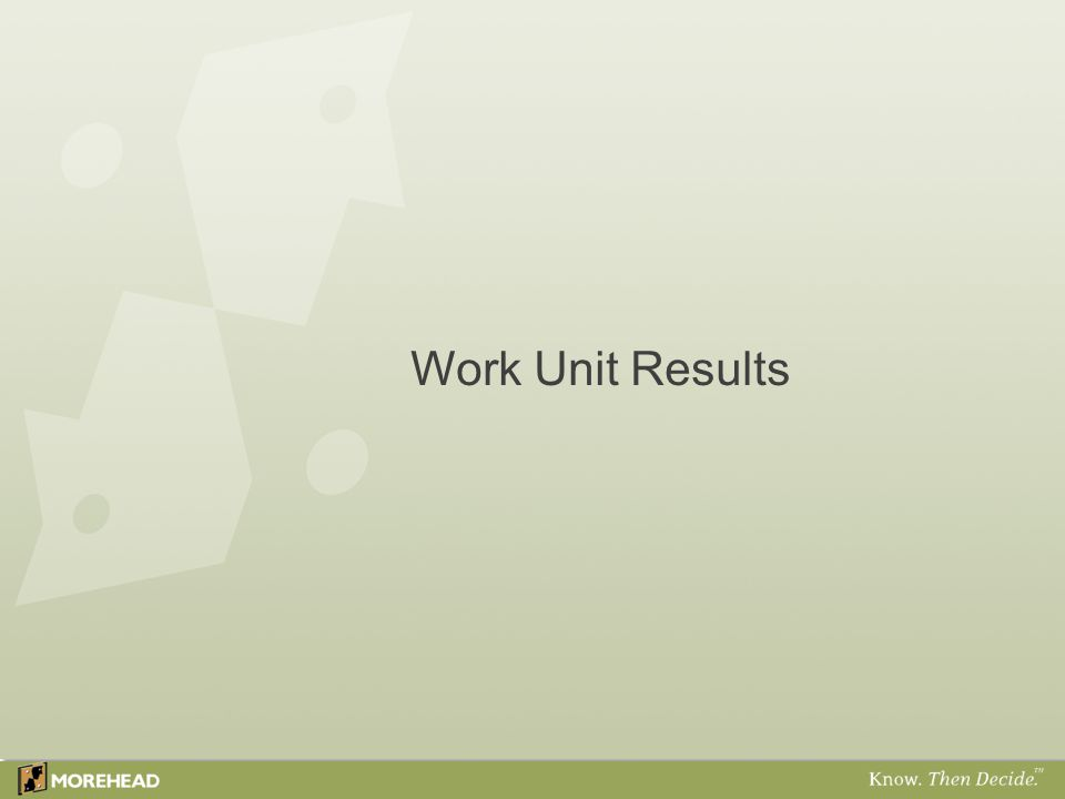 Work Unit Results