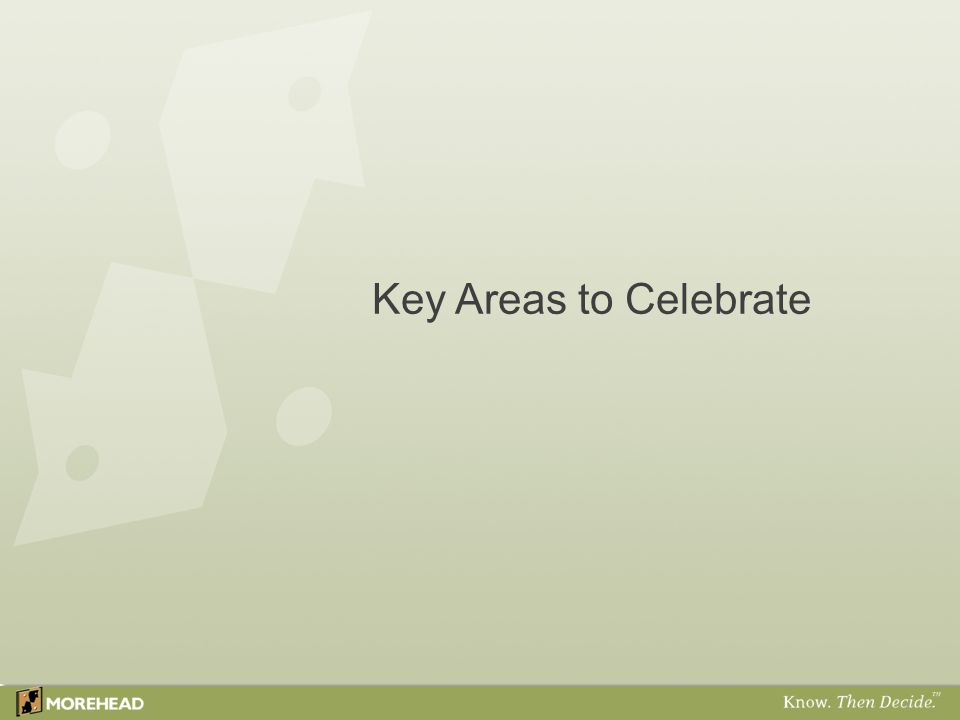 Key Areas to Celebrate