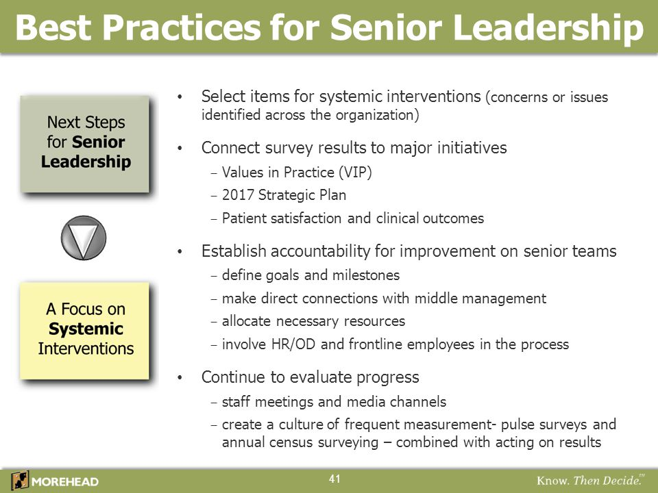 Best Practices for Senior Leadership