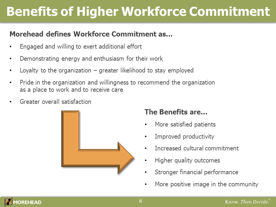 Benefits of Higher Workforce Commitment