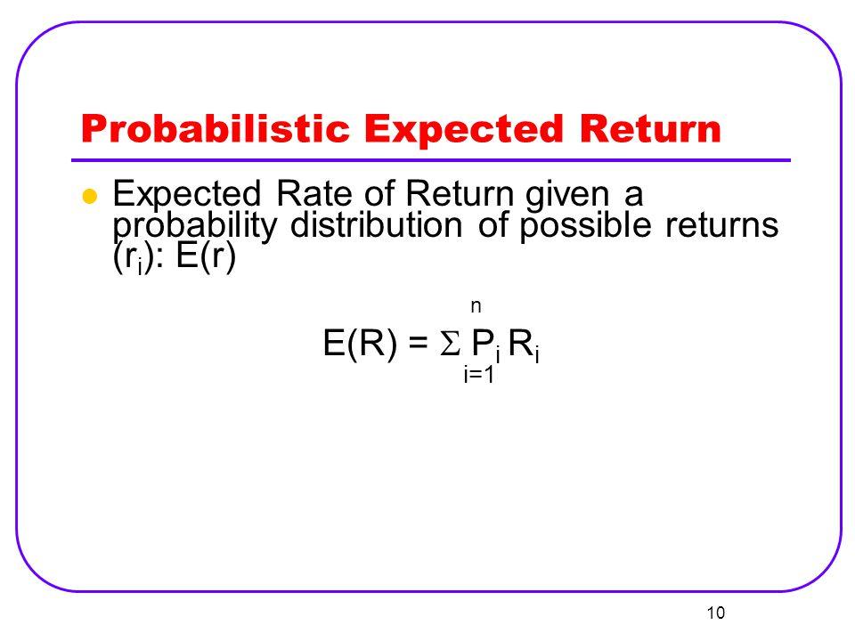 Probabilistic Expected Return