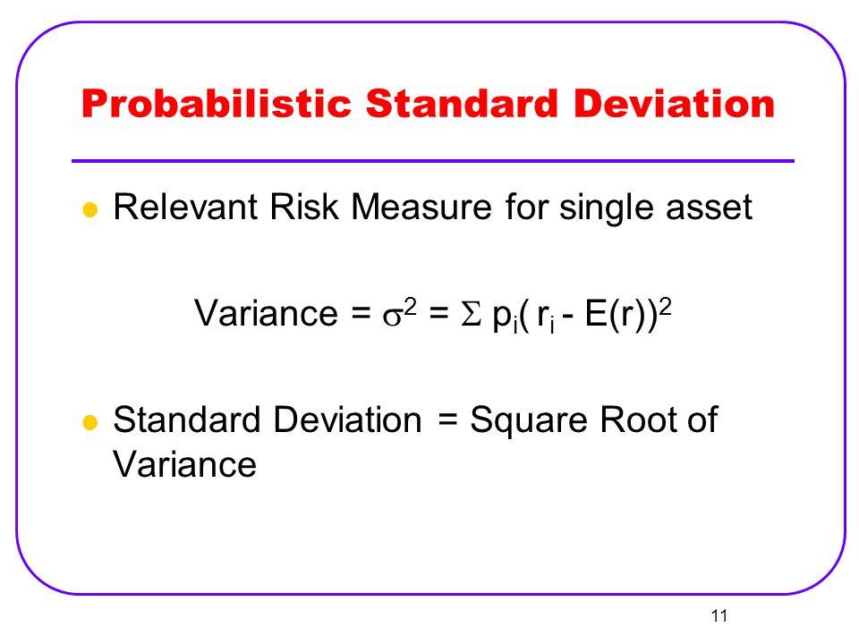 Probabilistic Standard Deviation