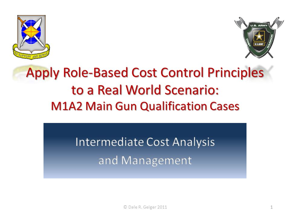 Intermediate Cost Analysis and Management