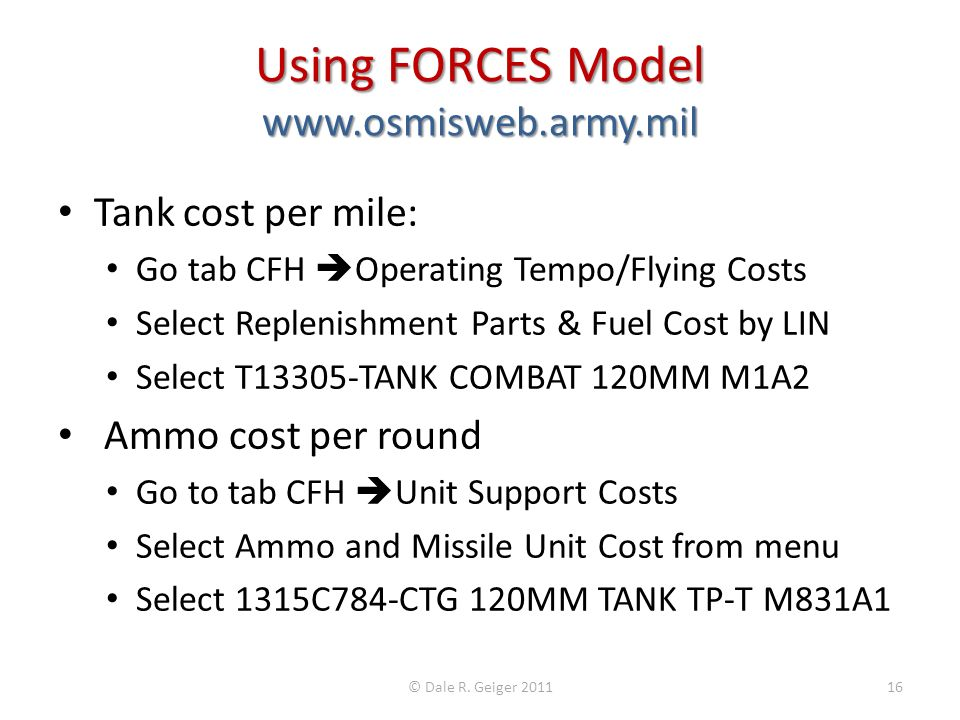 Using FORCES Model www.osmisweb.army.mil