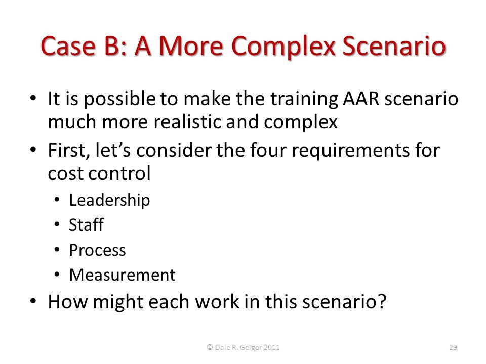 Case B: A More Complex Scenario
