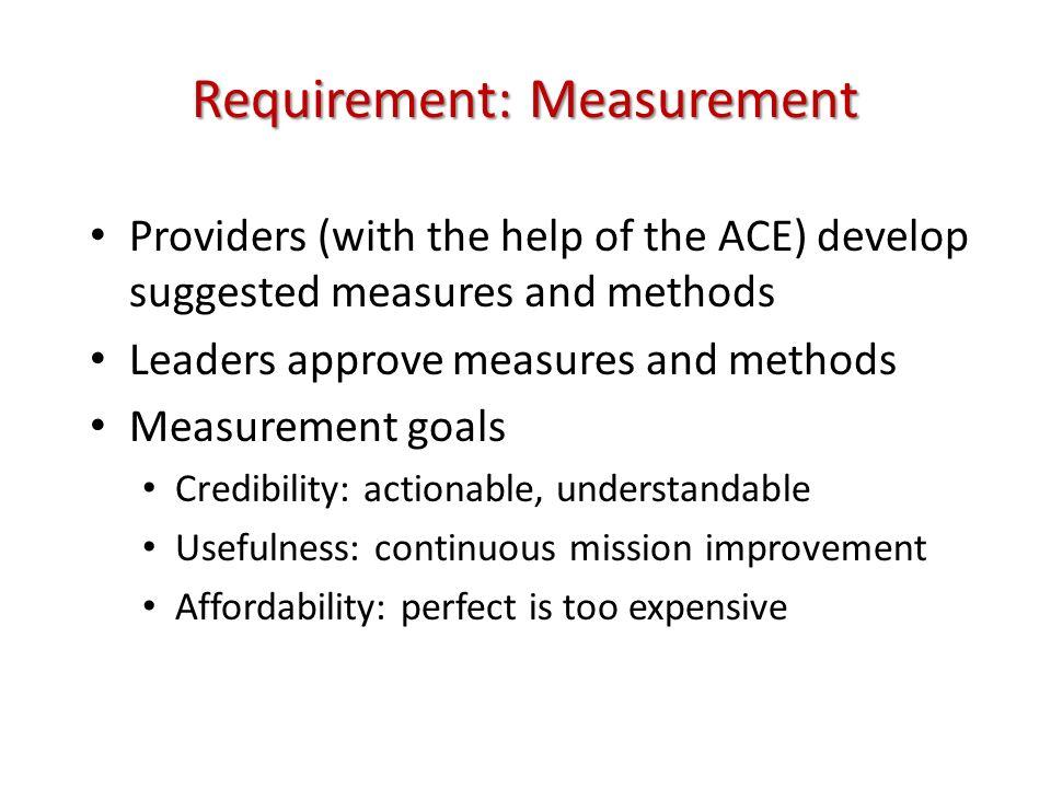 Requirement: Measurement