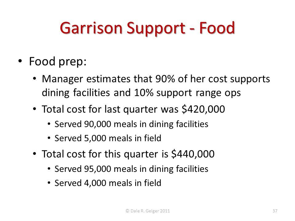 Garrison Support - Food