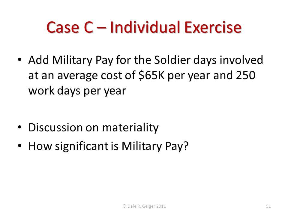 Case C – Individual Exercise