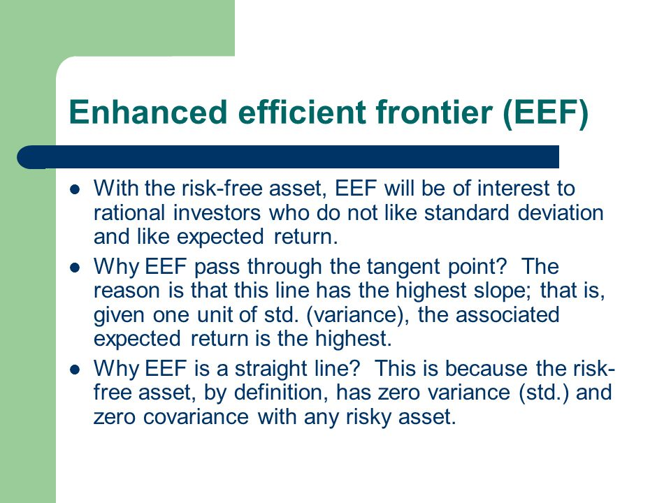 Enhanced efficient frontier (EEF)