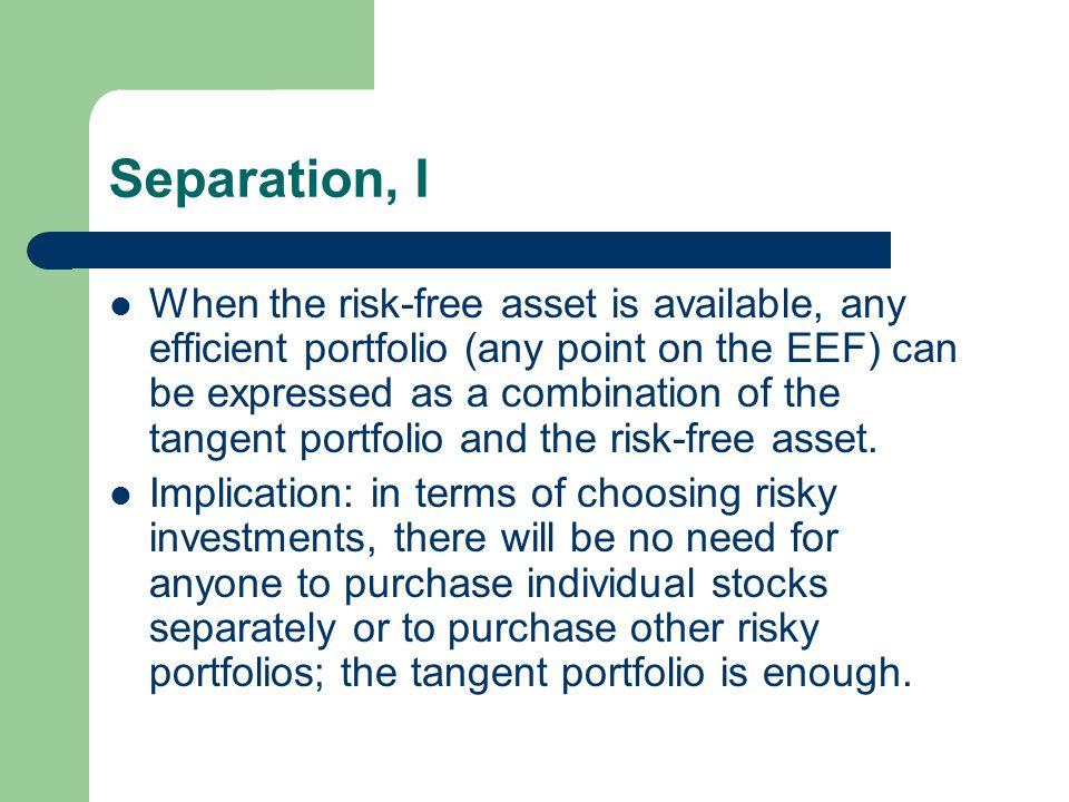 Separation, I