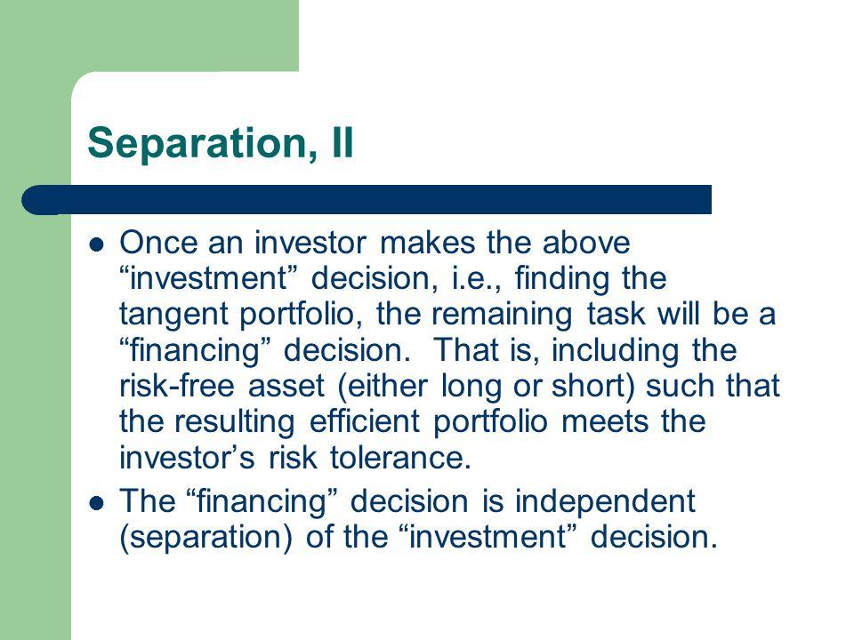 Separation, II