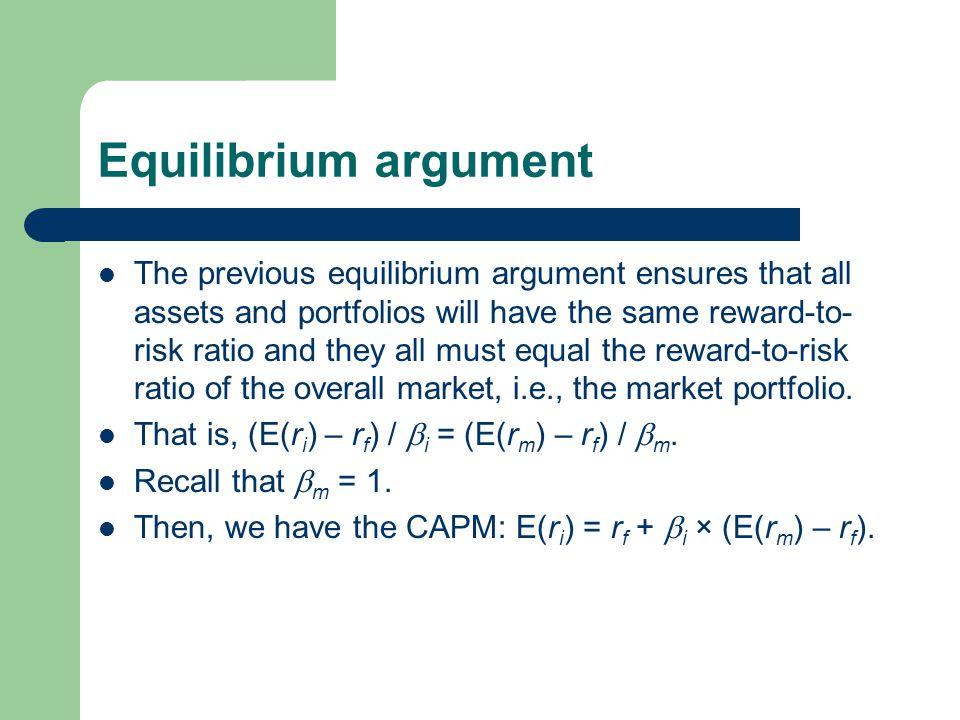Equilibrium argument