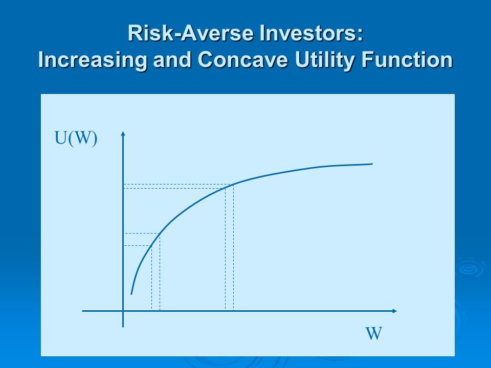 Risk-Averse Investors: Increasing and Concave Utility Function