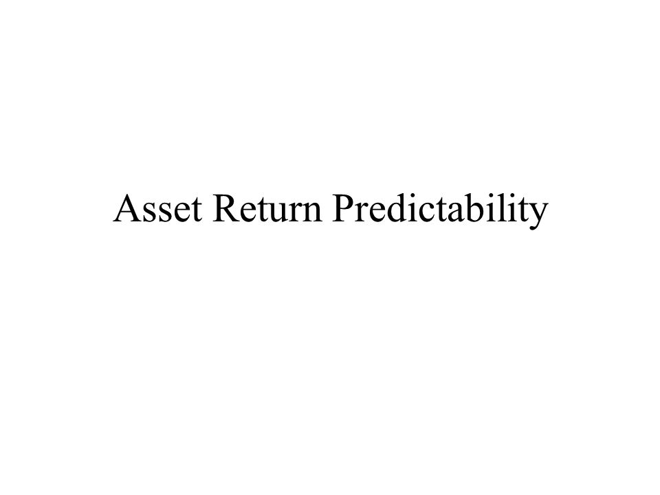 Asset Return Predictability